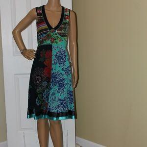 Desigual Sleeveless MultiPattern Dress